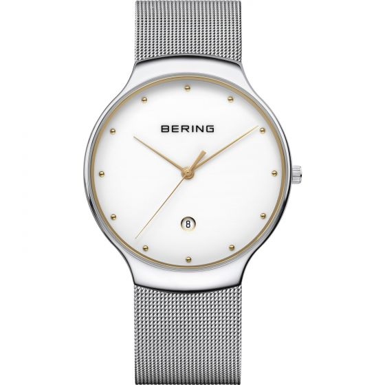 BERING Time 13338-001 Unisex Classic Collection Watch with Stainless-Steel Strap