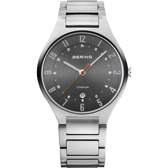 BERING Time 11739-772 Mens Titanium Collection Watch with Titanium Band.
