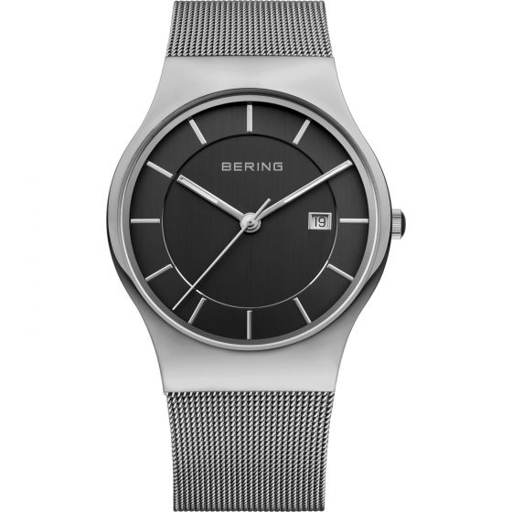 BERING Time 11938-002 Men Classic Collection Watch with Stainless-Steel Strap..