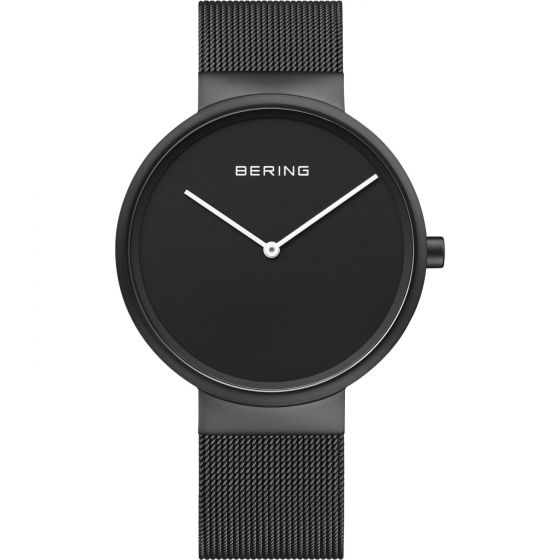 BERING Time Classic Collection Stainless-Steel 14539-122 Black Dial Unisex-adult