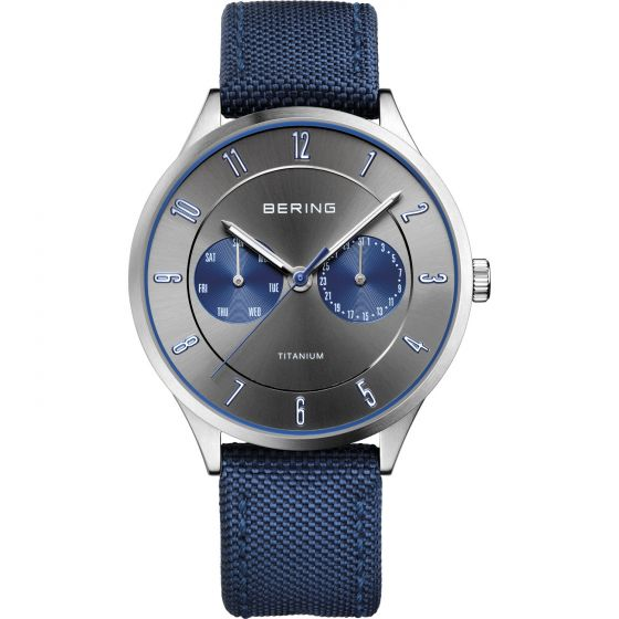 BERING Time 11539-873 Men Titanium Collection Watch with Nylon Strap.