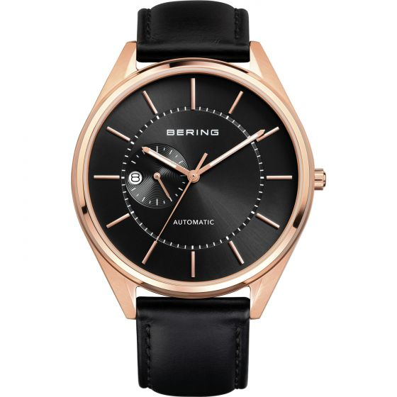 BERING Time Automatic Collection Stainless-Steel 16243-462 Black Dial Mens 43-mm