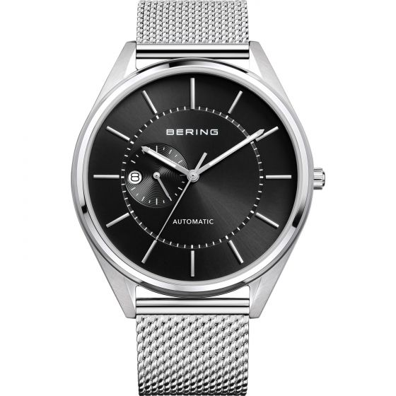 BERING Time Automatic Collection Stainless-Steel 16243-077 Black Dial Mens 43-mm