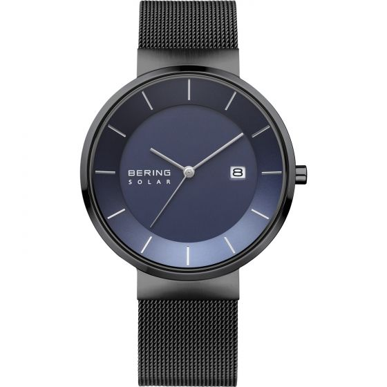 BERING Time Slim Solar Collection Stainless-steel 14639-227 Black Dial Mens 39-m