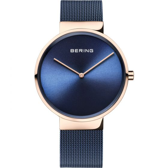 BERING Time Classic Collection Stainless-Steel 14539-367 Blue Dial Watch