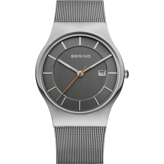 BERING Time 11938-007 Men's Classic Collection Watch with Mesh Band.