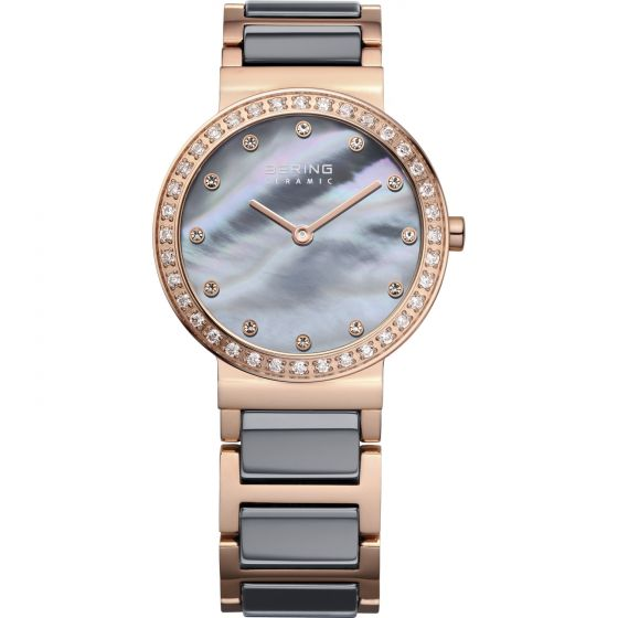 BERING Time 10729-769 Womens Ceramic Collection Watch with Stainless steel Band.