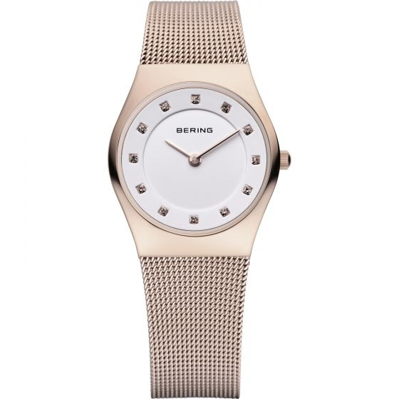 BERING Time 11927-366 Womens Classic Collection Watch with Mesh Band.