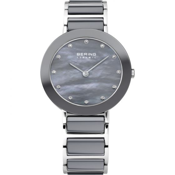 BERING Time 11429-789 Womens Ceramic Collection Watch with Stainless steel Band.