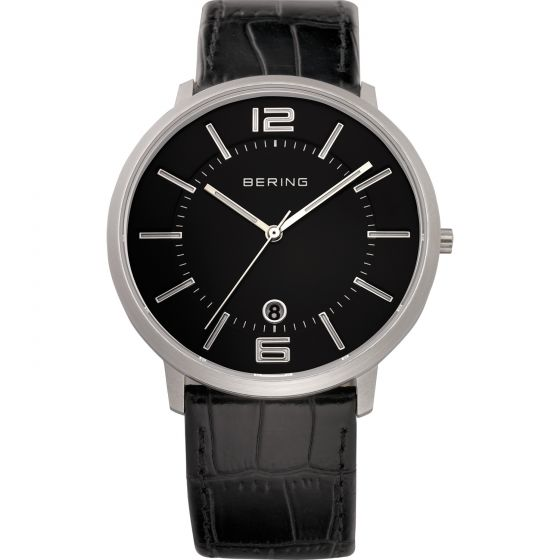 BERING Time 11139-409 Unisex Classic Collection Watch with Calfskin Band..
