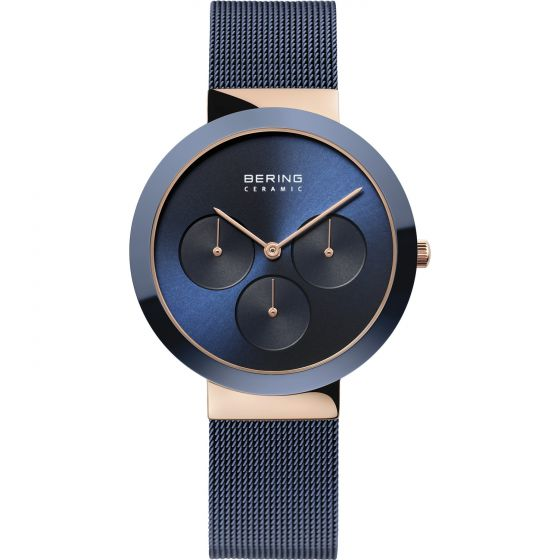 BERING Time High-Tech Ceramic Collection Stainless-steel 35036-367-US Blue Dial