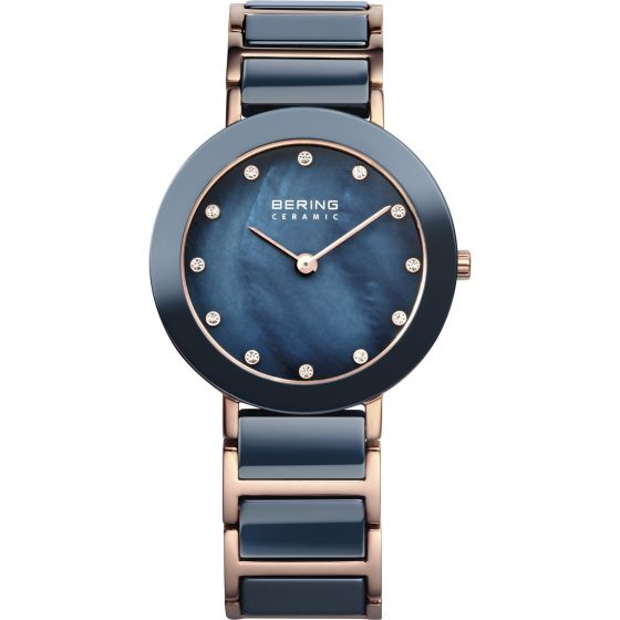BERING Time High-Tech Ceramic Collection Stainless-Steel 11429-767 Mother-of-Pea