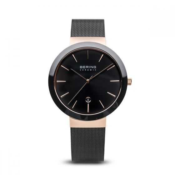 BERING Time High-Tech Ceramic Collection Stainless-Steel 11440-166 Black Dial Wo
