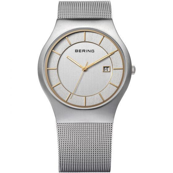 BERING Time 11938-001 Mens Classic Collection Watch with Mesh Band.