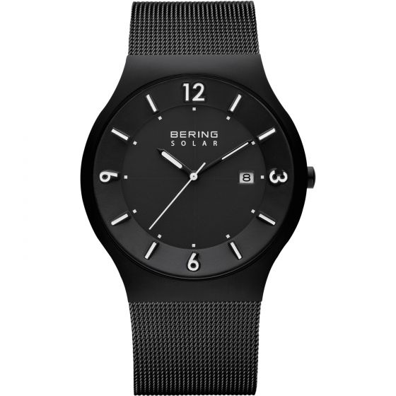 BERING Time 14440-222 Mens Solar Collection Watch with Mesh Band.
