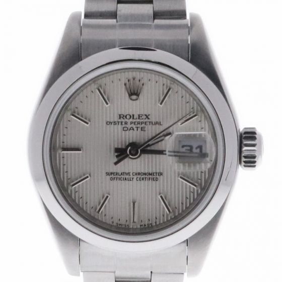 Rolex Lady Date 26 Stainless 79160 Silver Satin Dial 26-mm Automatic self-wind