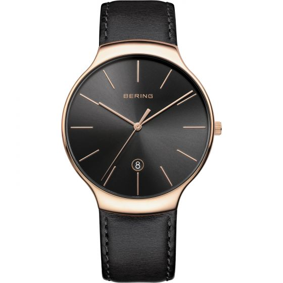 BERING Time 13338-462 Unisex Classic Collection Watch with Calfskin Strap..