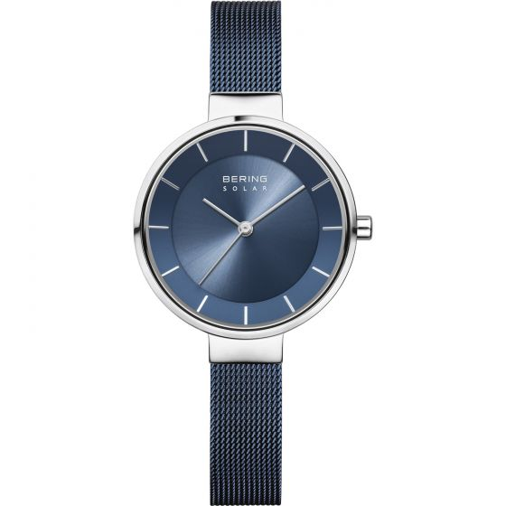 BERING Time Slim Solar Collection Stainless-steel 14631-307-US Blue Dial Womens