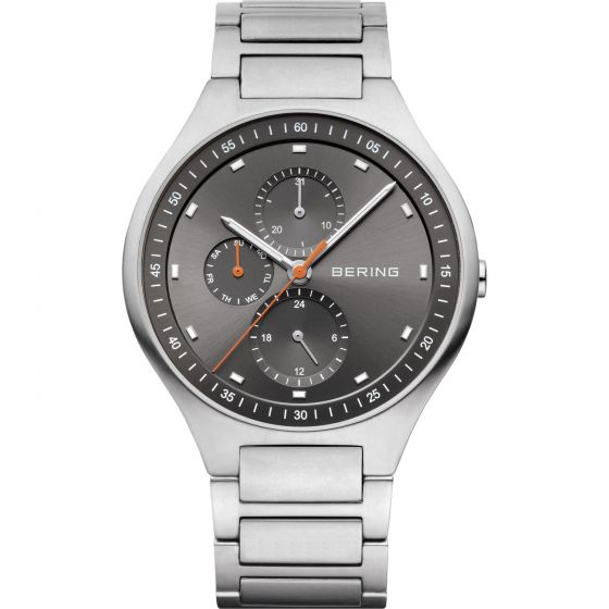 BERING Time 11741-702 Mens Titanium Collection Watch with Titanium Band.