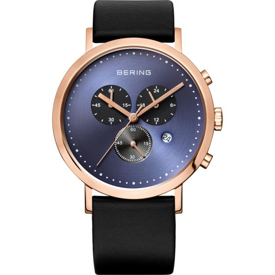 BERING Time 10540-567 Mens Classic Collection Watch with Calfskin Band.