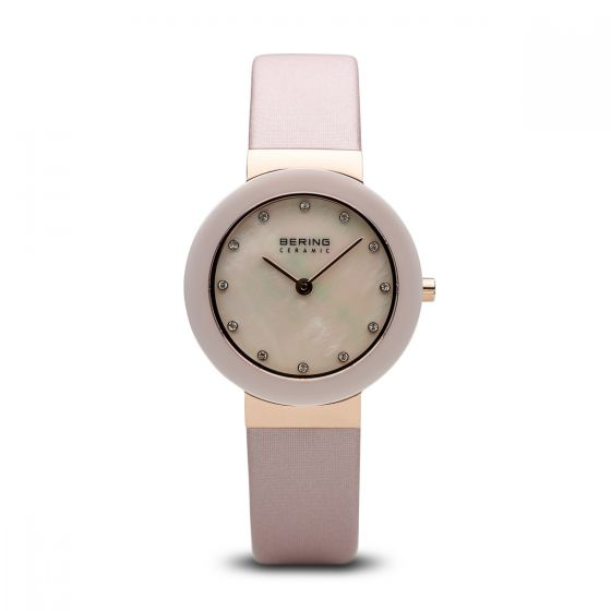 BERING Time 11429-664 Women Ceramic Collection Watch with Satin Strap..
