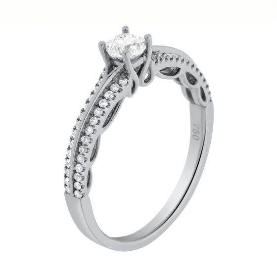0.50 Ct. T.W. Diamond Ring in 18 Karat White Gold