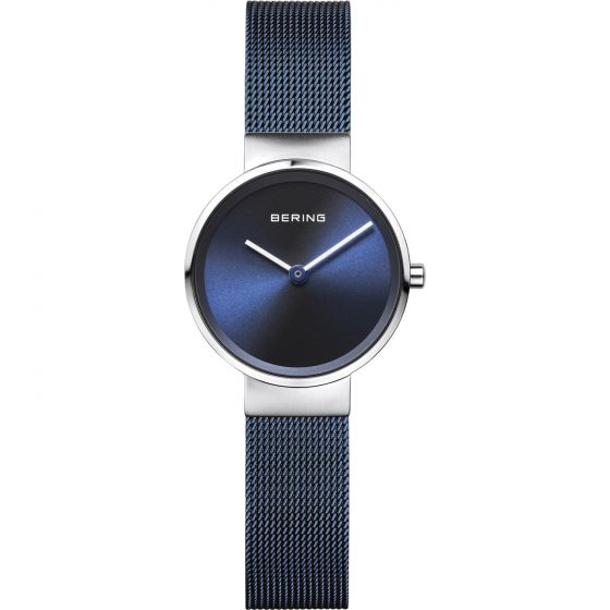 BERING Time Classic Collection Stainless-steel 14526-307 Blue Dial Womens 26-mm