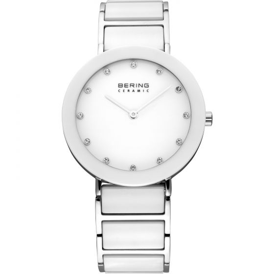 BERING Time High-Tech Ceramic Collection Stainless-Steel 11435-754 White Dial Wo