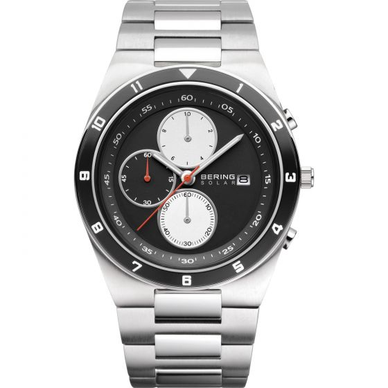 BERING Time 34440-702 Mens Solar Collection Watch with Stainless steel Band.