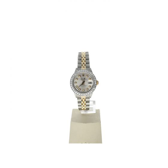 Rolex DateJust 26 Stainless-steel 6517 Mother-of-Pearl Dial Womens 26-mm Automatic self-wind Sapphire crystal. Swiss Made Wrist Watch