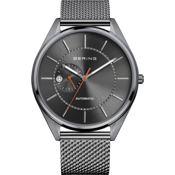 BERING Time Automatic Collection Stainless-Steel 16243-377 Grey Dial Mens 43-mm
