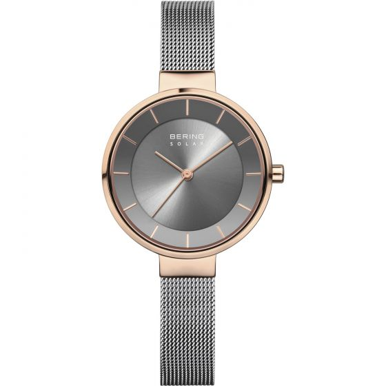 BERING Time Slim Solar Collection Stainless-steel 14631-369-US Grey Dial Womens