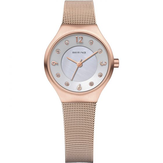 BERING Time 14427-366 Womens Solar Collection Watch with Mesh Band.