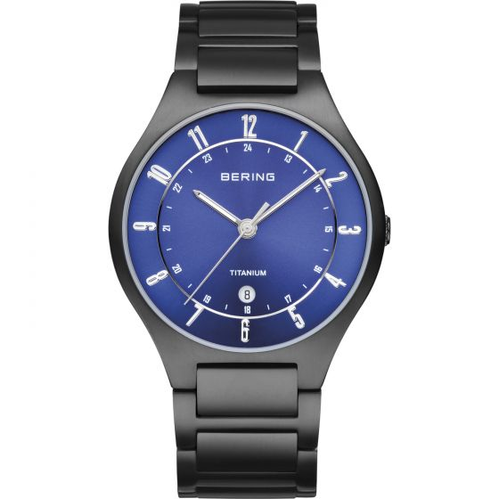 BERING Time 11739-727 Mens Titanium Collection Watch with Titanium Band.