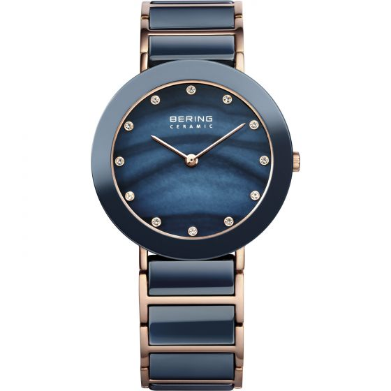 BERING Time High-Tech Ceramic Collection Stainless-Steel 11435-767 Mother-of-Pea
