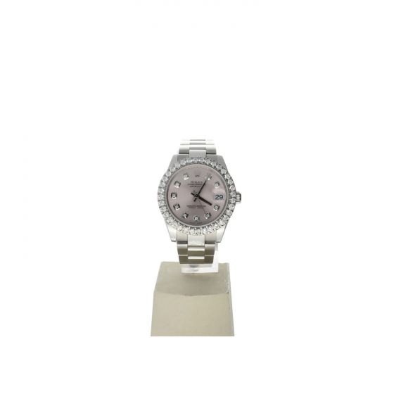 Rolex DateJust 31 Stainless-steel 178240 Pink Dial Womens 31-mm Automatic self-w