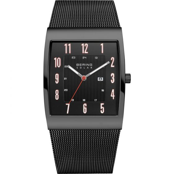 Bering Time Watch - Solar - Mens Polished Black 16433-122