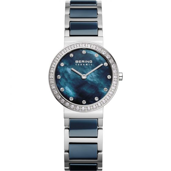 BERING Time 10729-707 Women Ceramic Collection Watch with Stainless-Steel Strap.