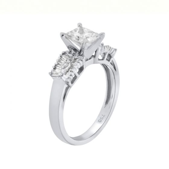 1.23Ct. T.W. Diamond Ring In 18 Karat White Gold