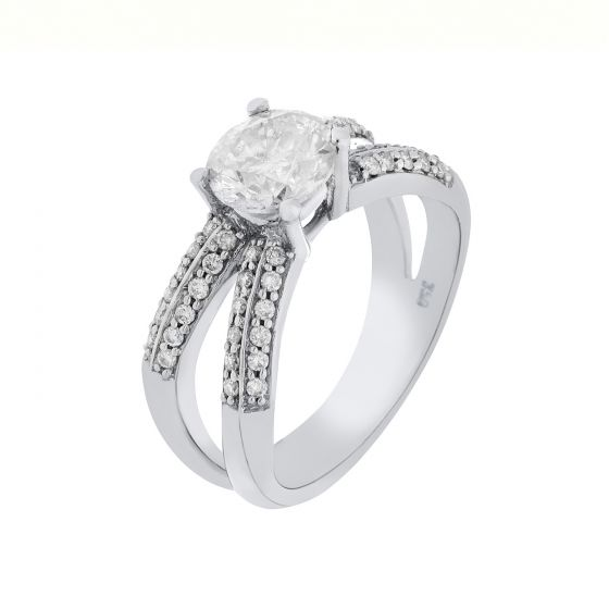Add a touch of glamour to your ensemble with this dazzling 18 Karat White Gold R