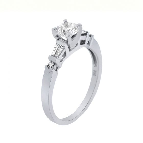 1.22 Ct. T.W. Diamond Ring In 18 Karat White Gold