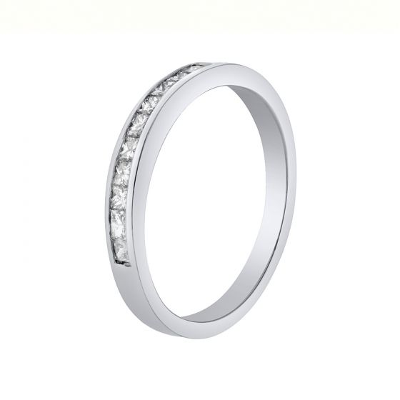 0.33 Ct. T.W. Princess Diamond Eternity Band in 18K White Gold
