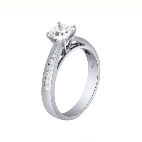 1.27Ct. T.W. Diamond Ring In 18 Karat White Gold