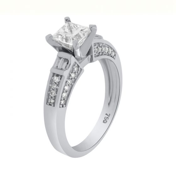 1.79Ct. T.W. Diamond Ring In 18 Karat White Gold