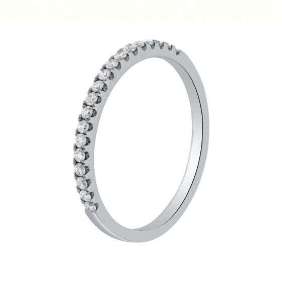 0.20Ct. T.W. Diamond Ring In 18 Karat White Gold