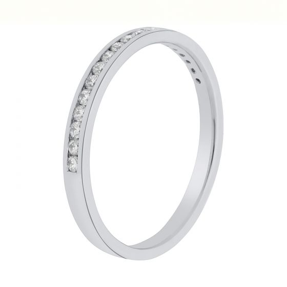0.23Ct. T.W. Diamond Ring In 18 Karat White Gold