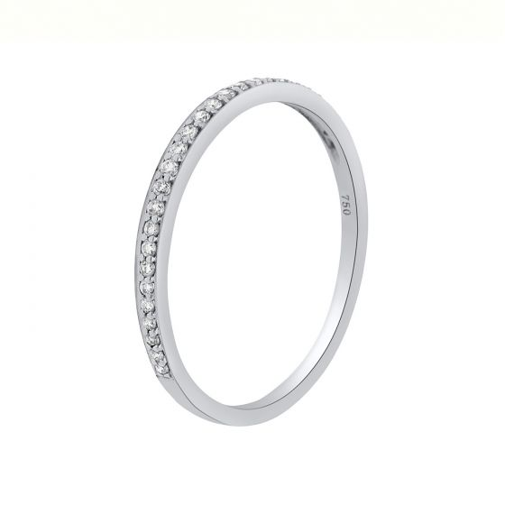 0.12 Ct. T.W. Diamond Accent Band In 18kt white