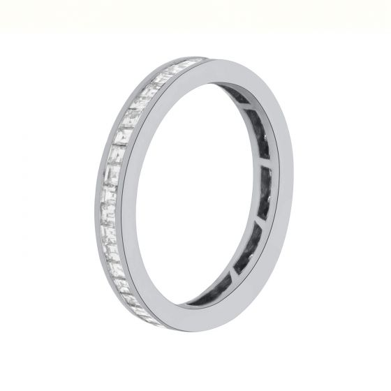 1.03ct Round Diamond Full Eternity Bands in 14k White Gold-187689