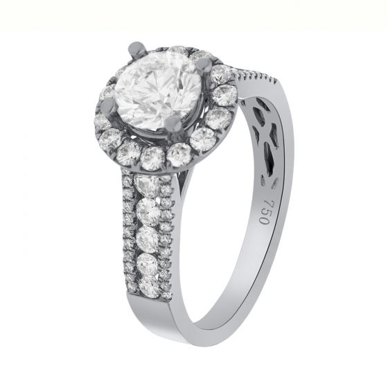 1.00 Ct. T.W. Diamond Ring In 18 Karat White Gold