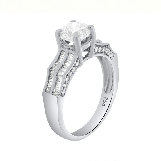 0.45 Ct. T.W. Diamond Ring In 18 Karat White Gold